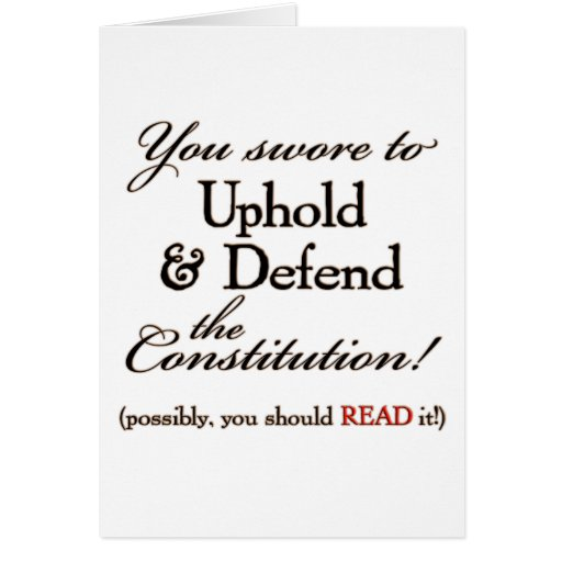 uphold and defend! greeting card