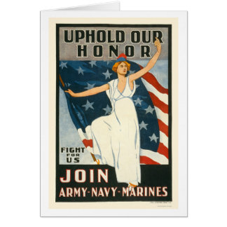 Uphold our honor - Join Army-Navy-Marines Card