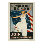 Uphold our honor - Join Army-Navy-Marines Poster
