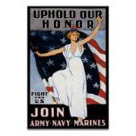 Uphold Our Honor Vintage Recruiting Poster