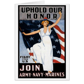 Uphold Our Honor Vintage Recruiting Poster Card
