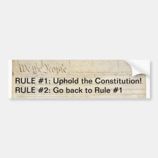 Uphold the Constitution Bumper Sticker Car Bumper Sticker