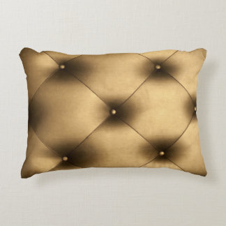UPHOLSTERED IN GOLD Polyester Accent Cushion
