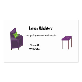 Upholstery and Design Double-Sided Standard Business Cards (Pack Of 100)