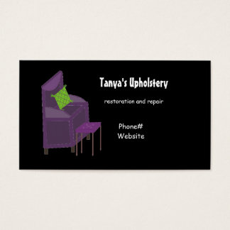 Upholstery and Design Business Card