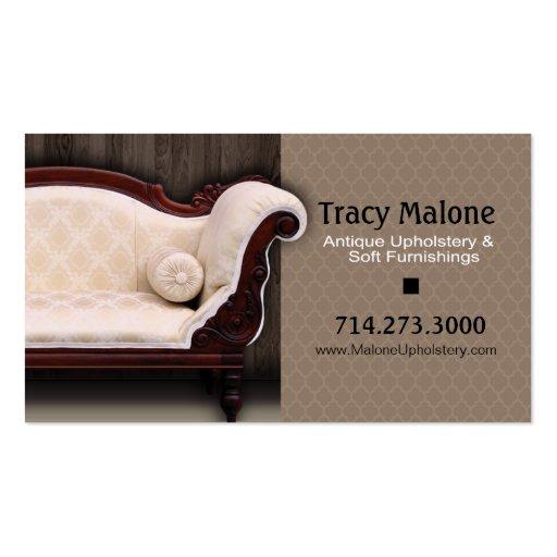 Upholstery Expert, Furniture Designer Business Card Templates