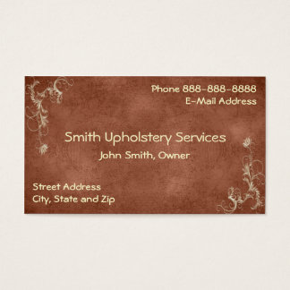 Upholstery Upholsterer Leather Business Card