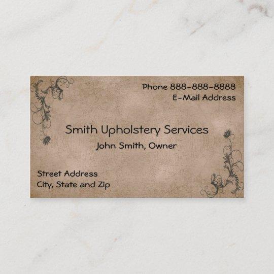 Upholstery Upholsterer Leather Business Card Zazzle