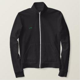UPI Black Front and Back Track Jacket