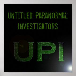 UPI Logo and Name Large Poster