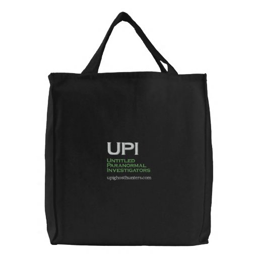 UPI, Untitled Paranormal Investigators, upighos... Embroidered Bags