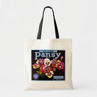 Upland Pansy budget tote Budget Tote Bag