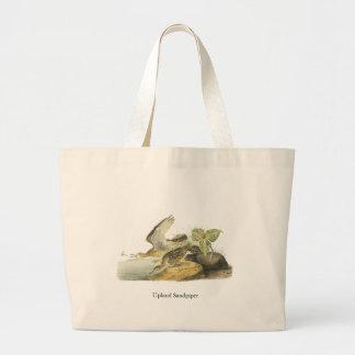 Upland Sandpiper, John Audubon Jumbo Tote Bag