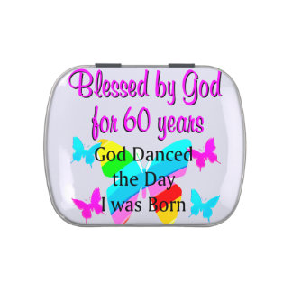 UPLIFTING 60TH BIRTHDAY JELLY BELLY TIN