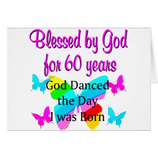 UPLIFTING 60TH BIRTHDAY CARD