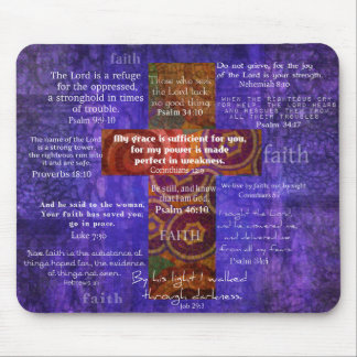 Uplifting Bible Verses about FAITH Mouse Pad