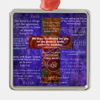 Uplifting Bible Verses about FAITH Christmas Tree Ornaments