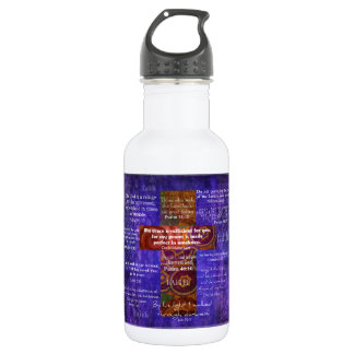 Uplifting Bible Verses about FAITH Stainless Steel Water Bottle