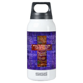 Uplifting Bible Verses about FAITH Thermos Water Bottle