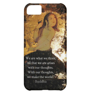 Uplifting Buddha Quote Cover For iPhone 5C