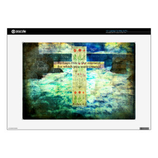 "Uplifting Inspirational Bible Verse About Life 15"" Laptop Skin"