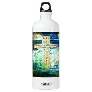 Uplifting Inspirational Bible Verse About Life Aluminum Water Bottle