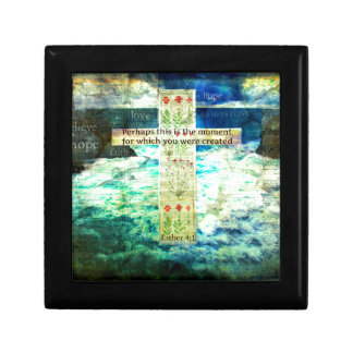 Uplifting Inspirational Bible Verse About Life Keepsake Box