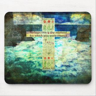 Uplifting Inspirational Bible Verse About Life Mouse Pad