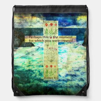 Uplifting Inspirational Bible Verse About Life Cinch Bag