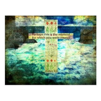 Uplifting Inspirational Bible Verse About Life Postcard