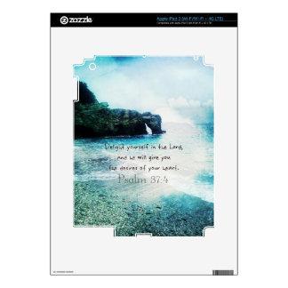 Uplifting Inspirational Bible Verse Psalm 37:4 iPad 3 Decals