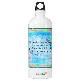 Uplifting Motivational Quotation by Shakespeare SIGG Traveler 1.0L Water Bottle