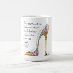 Uplifting shoe humor mug