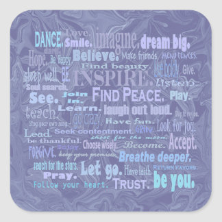 uplifting thoughts squares square sticker