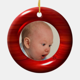 Upload 2 photos to cherry wood illusion ornament