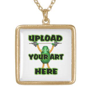 upload art square gold finish locket