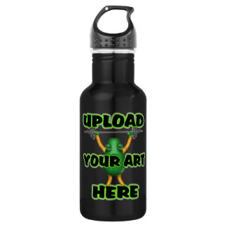Upload art templates by Valxart.com 18oz Water Bottle