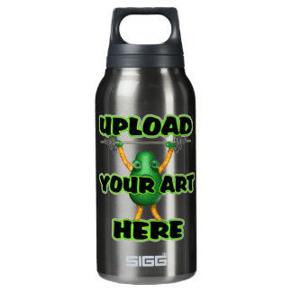 Upload art templates by Valxart.com 10 Oz Insulated SIGG Thermos Water Bottle