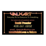 Upload art to 2 side Valxart business card
