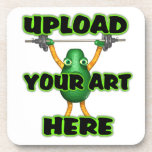 Upload art to cork coasters