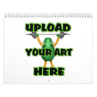 Upload art to customize calendar by Valxart
