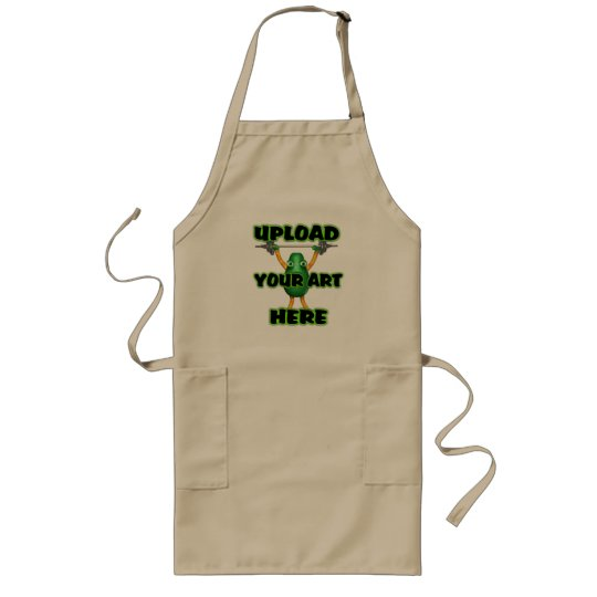 Upload art to customized items long apron