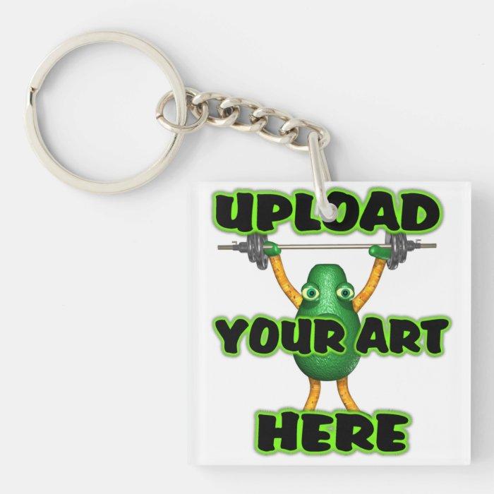 Upload Art to Valxart template Keychain