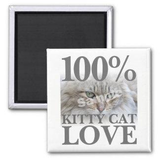 Upload Photo 100% Kitty Cat Love Magnet