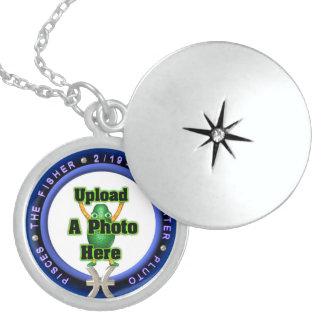 Upload photo Pisces sterling silver locket