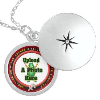 Upload photo Sagittarius sterling silver locket