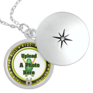 Upload photo Taurus sterling silver locket