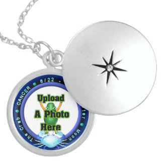 Upload photo to Cancer sterling silver locket