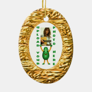 Upload photo to gold illusion christmas ornaments