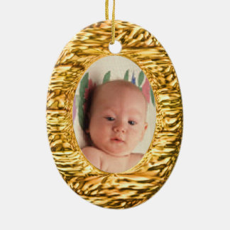 Upload photo to gold illusion christmas tree ornaments